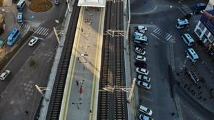 Boş kalan Marmaray istasyonları havadan görüntülendi