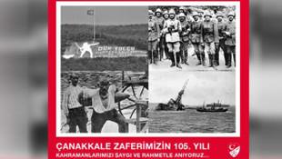 Spor camiasından '18 Mart Şehitleri Anma Günü ve Çanakkale Zaferi' mesajları