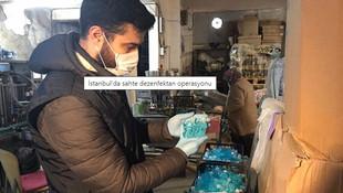 İstanbul'da sahte dezenfektan operasyonu