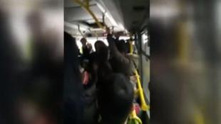 İstanbul'da minibüste korkunç görüntü