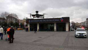 Polisten drone ile ''evde kalın'' uyarısı