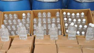 Sahte dezenfektan operasyonu: 3 ton kimyasal madde ele geçirildi