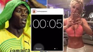 Britney Spears, Usain Bolt'un rekorunu kırdı