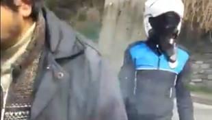 Üsküdar'da balık tutmak isteyen vatandaşa darp kamerada