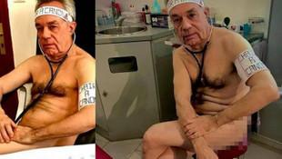 Fransız doktor malzeme yetersizliğini protesto etmek için soyundu
