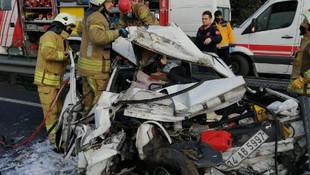 İstanbul'da dehşete düşüren kaza: 1 ölü