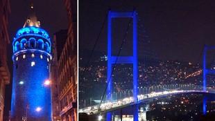 İstanbul'un simgeleri maviye bürünecek