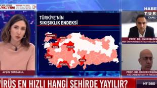 Canlı yayında koronavirüs için Türkiye'deki en tehlikeli iller sıralandı !