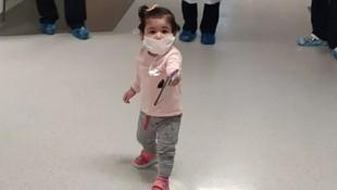 Türkiye'nin en küçük koronavirüs savaşçısı, virüsü yendi!