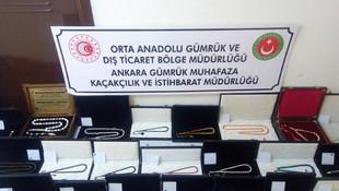 Ankara'da 1 milyon liralık tespih operasyonu