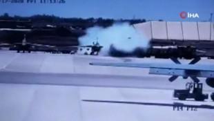 Askeri havalimanında korkunç kaza: Kazara füze ateşlendi!