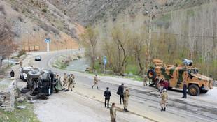 Van'da askeri araç devrildi! 6 asker yaralandı