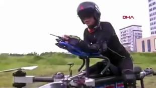 Çinli mühendis uçan motosiklet icat etti