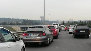 İstanbul girişinde uzun araç kuyruğu