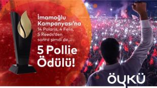 İmamoğlu seçim kampanyasına 5 Pollie ödülü!