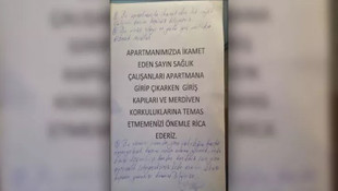 Sakarya'da sağlık çalışanına çirkin yazı !