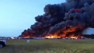 18 saat süren kabus! 3 bin 500 araç alev alev yandı