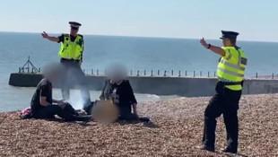 Sahil kenarı mangalcılarına polis baskını!
