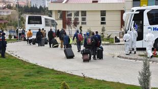 Katar'dan getirilen 166 Türk gözlem altına alındı