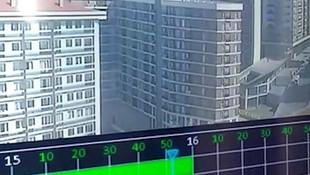 İstanbul Esenyurt'ta apartmanda patlama anı