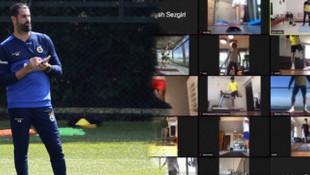 Fenerbahçe'den yeni paylaşım! İşte futbolcuların antrenman görüntüsü