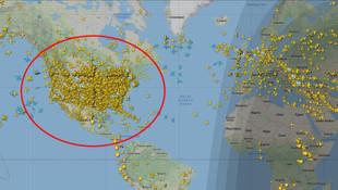 ABD hava trafiğindeki yoğunluk şoke etti!
