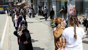 Gaziantep'te halk koronavirüse aldırmadan sokaklara döküldü!