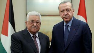 Erdoğan, Filistin Devlet Başkanı ile görüştü