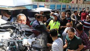 Akılalmaz olay! Kaza yerinde polis ekiplerine saldırı!