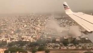 İşte 99'u yolcu 107 kişiyi taşırken düşen uçağın düşme anı görüntüleri