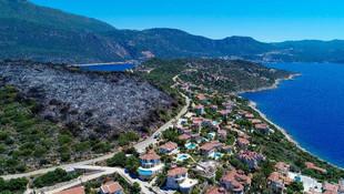 Kaş'ta korkutan yangın! Villara 15 metre kala söndürüldü