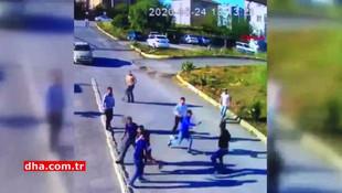 İstanbul'da ''marketi neden açmıyorsun'' kavgası kamerada