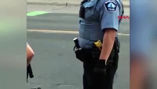 Polis şüpheliyi boğarak öldürdü! Dehşet anları kamerada