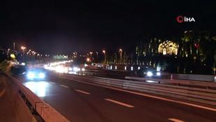 15 Temmuz Şehitler Köprüsünde kısıtlama sonrası trafik yoğunluğu