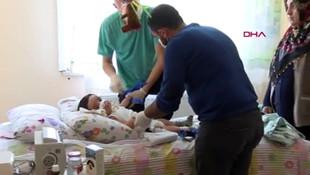Boğazına leblebi kaçan Ömer Asaf bebek, yatağa mahkum kaldı