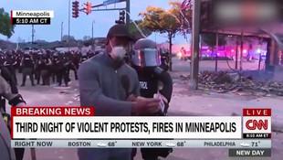 ABD'de sular durulmuyor! CNN muhabirine canlı yayında gözaltı