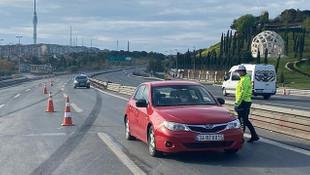 15 Temmuz Şehitler Köprüsü'nde Sokağa Çıkma Yasağı Denetimi