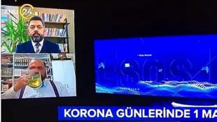24 TV canlı yayınındaki ''bira'' iddiası ortalığı karıştırdı