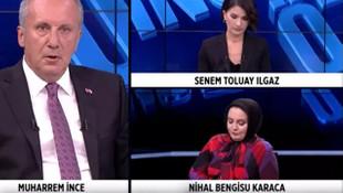 CHP'li Muharrem İnce yayını terk etmişti! O kanaldan açıklama geldi
