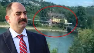 FETÖ'cü savcı Zekeriya Öz'ün lüks villası böyle görüntülendi