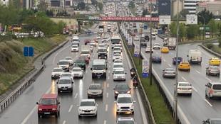 İstanbul'da akılalmaz trafik!