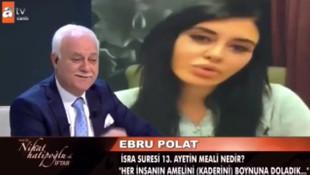 Ebru Polat, Nihat Hatipoğlu'na soru sordu