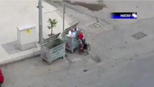 Kahreden görüntü: Hatay'da engelli çocuk çöpten atık topladı