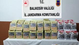 Balıkesir'de kaçak tütün operasyonu: 2 gözaltı