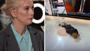 Muhabir canlı yayında yere yığıldı!