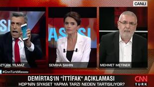 Öztürk Yılmaz ve Mehmet Metiner canlı yayında birbirine girdi!