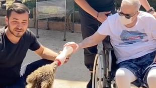 Mehmet Ali Erbil tekerlekli sandalye ile döndü
