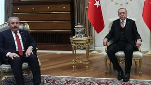 Cumhurbaşkanı Erdoğan, TBMM Başkanı Şentop'la görüştü