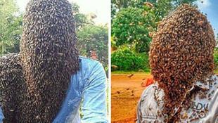 Guinness'e adını yazdırmak için 60 bin arıyı kafasında tuttu!