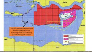 Dışişleri, Doğu Akdeniz'de ruhsat sahalarını gösteren harita paylaştı